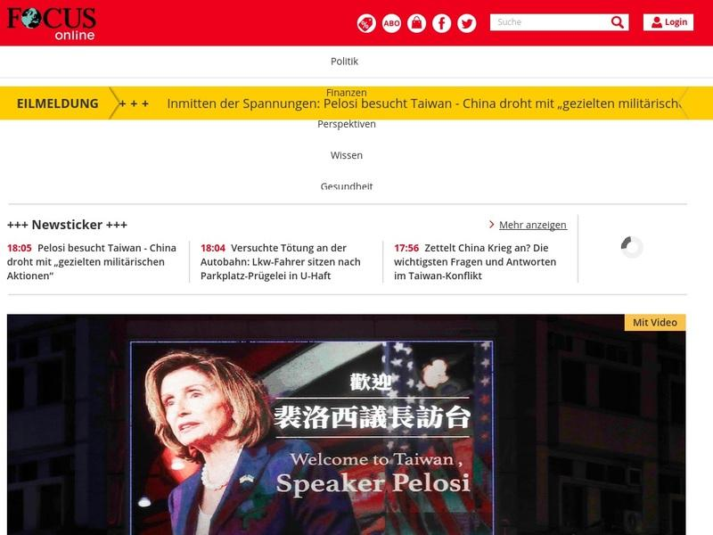 Screenshot von www.focus.de